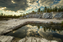 Ruskeala Is A Marble Canyon. M...