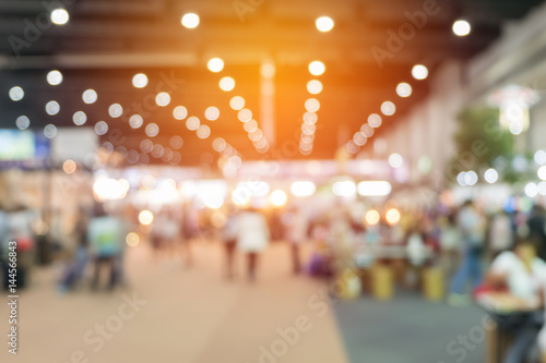 Canvas Print abstract blurred event with people for background