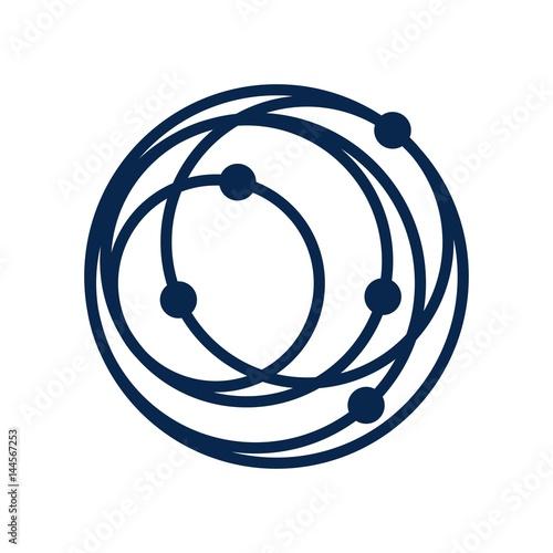 Cuadros en Lienzo orbit logo vector.