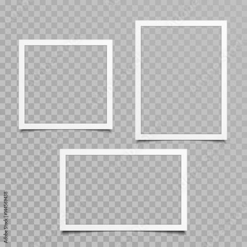 Fototapeta Blank photo frame vector set. obraz na płótnie