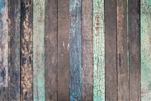 Vintage Old Wood Plank Backgro...