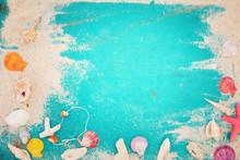 Summer Background - Starfish, ...