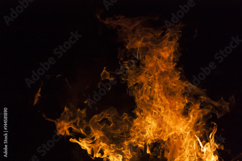 Yellow and orange fire frames isolated on a black background - Buy ...