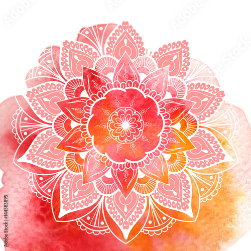 Decorative floral mandala. Vector illustration Fototapet