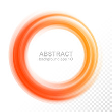 Abstract Transparent Orange Swirl Circle