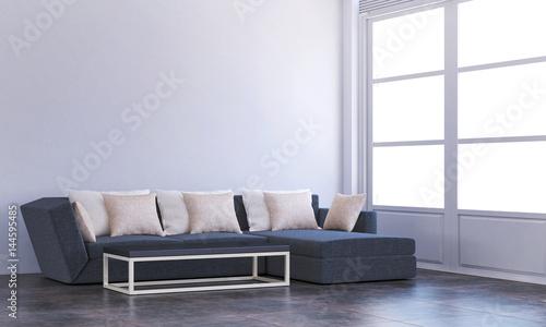 Fototapeta The interior design of Sofa and living room obraz na płótnie