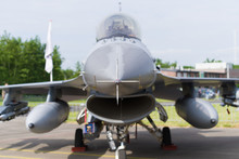 F16 Fighter Jet Front View