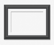 Horizontal Rectangular Vector Black Frame