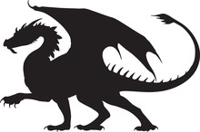 Black Dragon Silhouette Tatoo