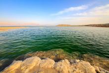Salt Lumps At Shore Of The Dead Sea