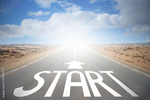 Zdjęcie XXL Koncepcja drogi - start