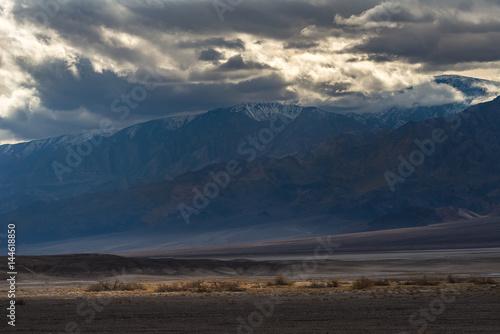 Foto op Canvas Nachtblauw Landscape of Death Valley National Park