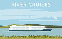 River Cruise Ship. Recreationa...