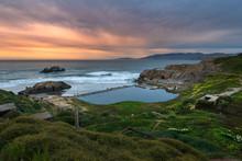 Sutro Baths Sunset, San Franci...