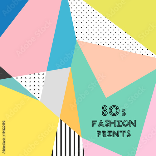 Poster  Trendy pattern in 80s style for your decoration