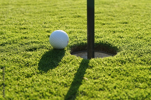 Fotografie, Obraz  Golf ball on the green near to pitch.