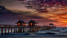 Florida Sunset At Naples Pier