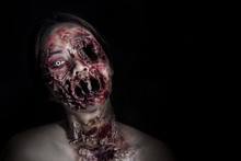 Horrible Scary Zombie Girl On...