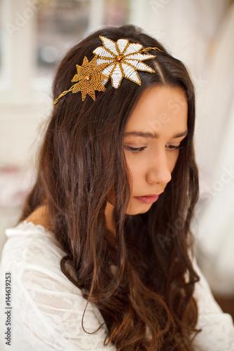 Obraz na plátně  Portrait of a beautiful bride
