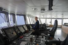 Navigational Officer On The Bridge