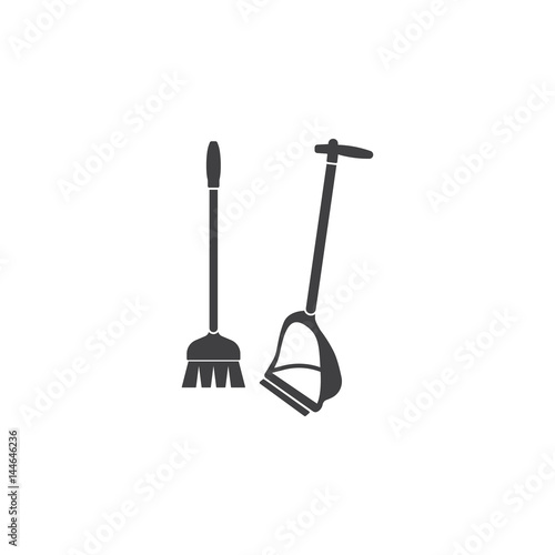 Broom and dustpan icon - Buy this stock vector and explore