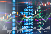 Profit Graph Of Stock Market Indicator. Abstract Stock Data Concept. Stock Financial Statistic Graph Analysis. Financial Fund Trade Overview In Profit Graph. Concept Finance