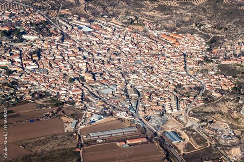 Photo  Aerial view of Morata de Tajuna town, Spain
