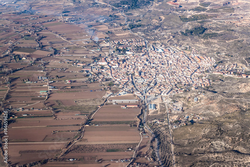 Aerial view of Morata de Tajuna town, Spain Wallpaper Mural