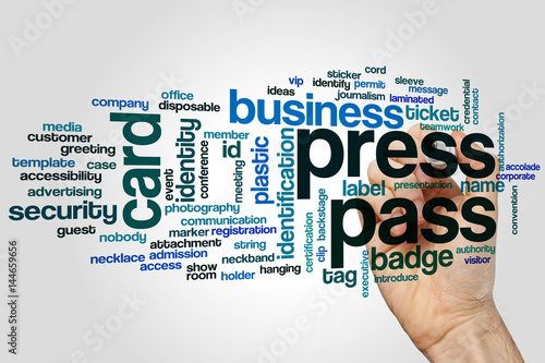 Press pass word cloud - Buy this stock photo and explore
