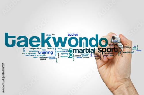 Obrazy Taekwondo   taekwondo-word-cloud-concept