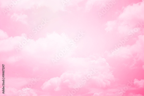Canvas Prints Heaven fantasy soft cloud with pastel gradient color, nature abstract background