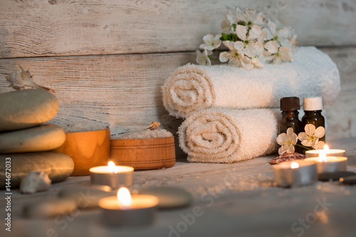 Spoed Foto op Canvas Spa Items for spa