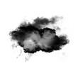 Leinwandbild Motiv Black cloud of smoke shape isolated over white background