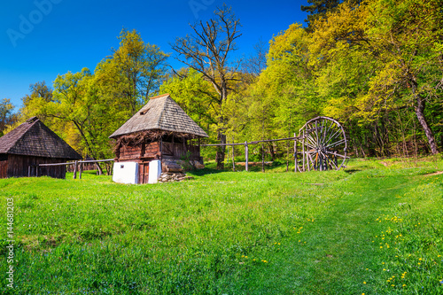 Traditional peasant house,Astra Ethnographic village museum, Sibiu, Romania, Europe