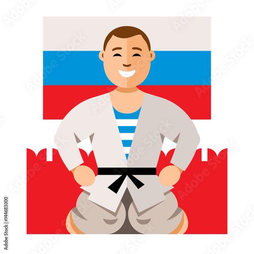 Fotografie, Obraz  Vector Russian Man humor concept