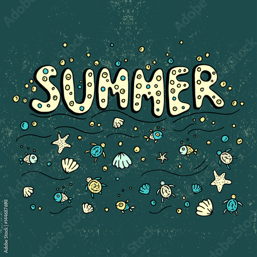 unikatowy-plakat-z-napisem-lato