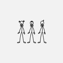 Cartoon Icons Of Sketch Stick ...
