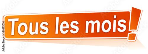 Valokuva  tous les mois sur étiquette orange