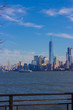 Manhattan view from liberty island, New York, USA