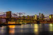Brooklyn bridge Twilight, NYC, USA