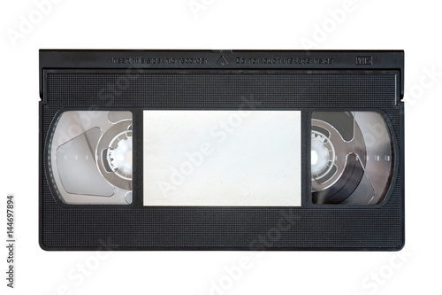 Outdated VHS tape on a white background Slika na platnu