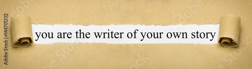 you are the writer of your own story Canvas Print