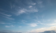 canvas print picture - Cirrus clouds on a blue sky