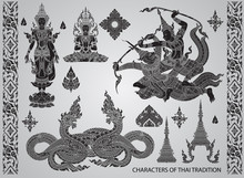 Set Action Characters,thai Tra...
