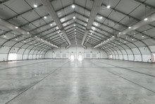 White Big Clean Empty Industri...