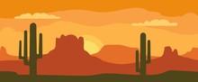 Panorama Mountains And Sunset ...