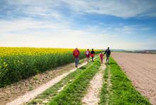 Promenade En Famille Au Printemps