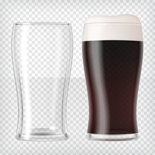 Realistic Beer Glasses - Dark ...