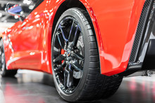 Close Up Wheel Of The Modern A...