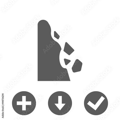 rockfall icon stock vector illustration flat design Canvas-taulu